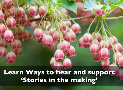 Learn the ways to hear and support the 'stories in the making'